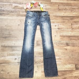 ReRock for Express Bootcut Distressed Jeans